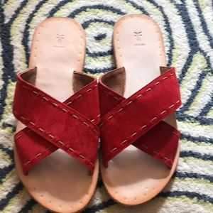 Frye leather suede sandal size 10
